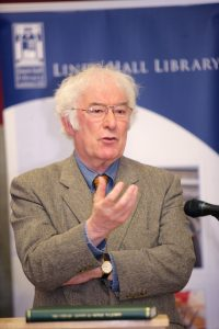 Seamus Heaney, former Patron and Honorary Member of the Linen Hall Library