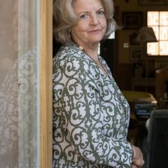 Polly Devlin OBE, Writer and Broadcaster at her home in West London. Born 1944 in Northern Ireland.