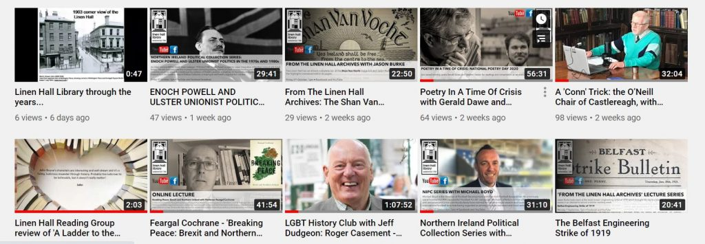 Linen Hall YouTube image