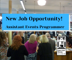 Copy of New Job Opportunity! Assistant Events Programmer